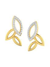 His & Her Fancy Diamond Earrings (T10409), 9k, Gol...