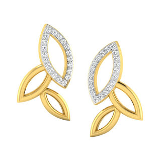 His & Her Fancy Diamond Earrings (T10409), 9k, Gol...