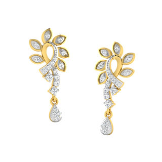 His & Her Fancy Diamond Earrings (T11084), 9k, Gol...