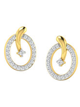 His & Her Fancy Diamond Earrings (T10223), 9k, Gol...