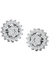 His & Her Fancy Diamond Earrings (T11755), 9k, Gol...