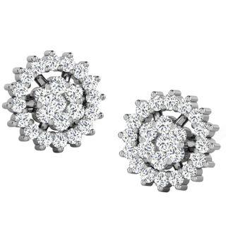 His & Her Fancy Diamond Earrings (T11755), 9k, Gol...