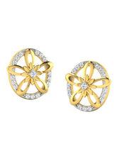 His & Her Fancy Diamond Earrings (T10006), 9k, Gol...