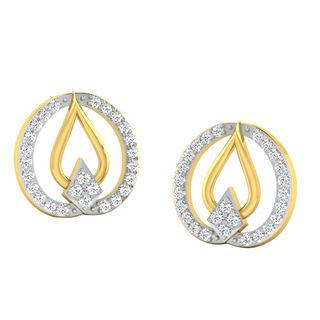 His & Her Fancy Diamond Earrings (T10189), 9k, Gol...
