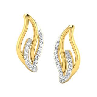 His & Her Fancy Diamond Earrings (T10410), 9k, Gol...