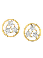 His & Her Fancy Diamond Earrings (T10356), 9k, Gol...