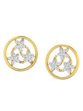 His & Her Fancy Diamond Earrings (T10356), 9k, Gol...