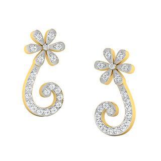 His & Her Fancy Diamond Earrings (T10399), 9k, Gol...
