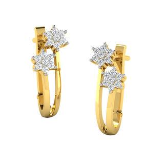 His & Her Fancy Diamond Earrings (T11381), 9k, Gol...