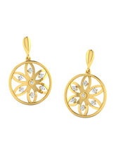 His & Her Fancy Diamond Earrings (T10585), 9k, Gol...