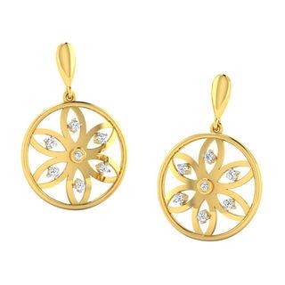 His & Her Fancy Diamond Earrings (T10585), 9k, Gol...