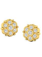His & Her Fancy Diamond Earrings (T10047), 9k, Gol...