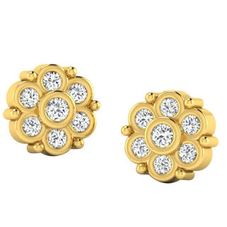 His & Her Fancy Diamond Earrings (T10047), 9k, Gol...