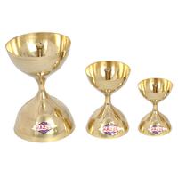 Hazel 3 Pc Set Brass Diya Oil Lamp Pooja Nanda Deep S7/S11/S15