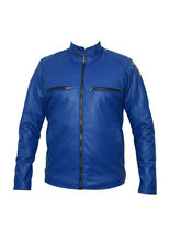 Winmaarc Faux Leather Stylish Mens Winter Jacket (JKT037), xl, blue