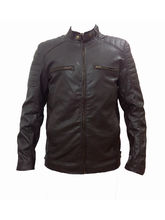 Winmaarc Faux Leather Stylish Mens Winter Jacket (JKT010), m, light brown