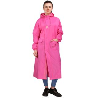 Real Umbrella Flair Reversible Raincoats For Women (RRWCPK), xl, pink