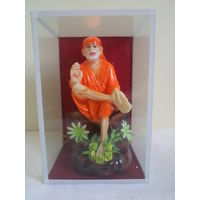 Lord Sai baba in glass box