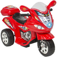 Kids Ride On Motorcycle 6V Toy Battery Powered Electric 3 Wheel Power Bicyle,  red