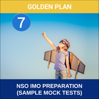 Class 7- NSO IMO Preparation ( Sample Mock Tests), gold plan