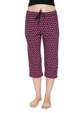 Shappon Solid Cotton Capri With Single Zipper Pocket In Front (12724), l, pink