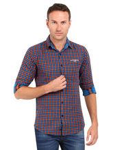 Crosscreek Checked Slimfit Fullsleeves Cotton Casual Shirt, m, green