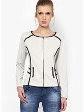 Kaxiaa Plain Full Sleeve Round Neck Woolen Jacket (K-JT-81005A), m, sand