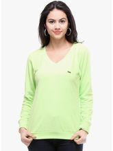 Kaxiaa Plain Full Sleeve V Neck Fleece/Knitted Sweater (K-SW-71025A), xl, green