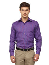 Copperline Striped Slimfit Fullsleeves Cotton Shirts., 40, violet