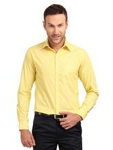 Copperline Striped Fullsleeves Slimfit Cotton Formal Shirt, m, yellow