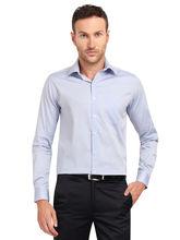 Copperline Chambray Fullsleeves Slimfit Cotton Formal Shirt, m, blue