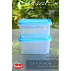 Chetan 6 Pcs Soft Lock Kitchen Multi Containers-600 Ml