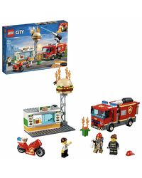 LEGO City Burger Bar Fire Rescue Building Blocks for Kids (327 Pcs) 60214