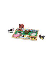 Melissa And Doug Chunky Puzzle Farm Animals, Age 2