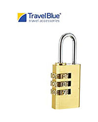 Travel Blue 3-Dial Combination Padlock
