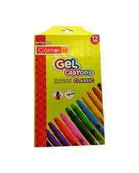 Camlin Kokuyo Classic Gel Crayons, 12 Shades (Multicolor)