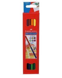 Faber Castell Bi-Color Pencil Set - Pack of 6 (Assorted)