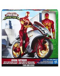 Funskool Marvel - Spiderman Iron Spider With Repulsor Cycle