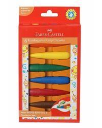 Faber-Castell Kindergarten Grip Crayons - Pack of 6 (Assorted)