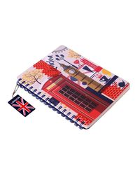 "Doodle London Dreams Notebook Diary, Paper & Transparent PVC Cover, Wiro Bound, 200 pages (140 Unruled & 60 Dotted Pages) , (6.5"" X 8.5"" )"