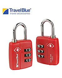 Travel Blue 2 X Tsa Combi Lock Blue Padlock