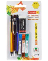 6800114 Tri-Mech Pack Set Of 3 With Leads & Xl Eraser Free