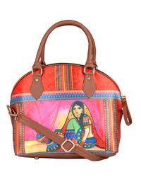Hand Bag: 240-02, multicolour