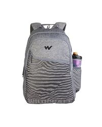 Wildcraft 35 Ltrs Lines_ Blk Casual Backpack (11619-Lines_ Blk), lines blk