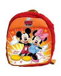 Mickey and Minnie Plush Bag, Orange (12-inch)