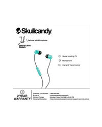 Skullcandy Jib Wired In-Earphone With Mic (Miami/Gray/Miami)