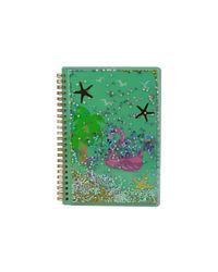 Twinkle Metallic Spiral Notebook Light Blue, blue