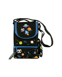 Smily Strap Lunch Bag Black, black