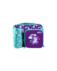Smily Multi Compartment Lunch Bag Pink