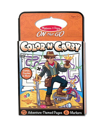 Melissa And Doug On The Go Color-N-Carry Adventure Themed Pages, Age 3+